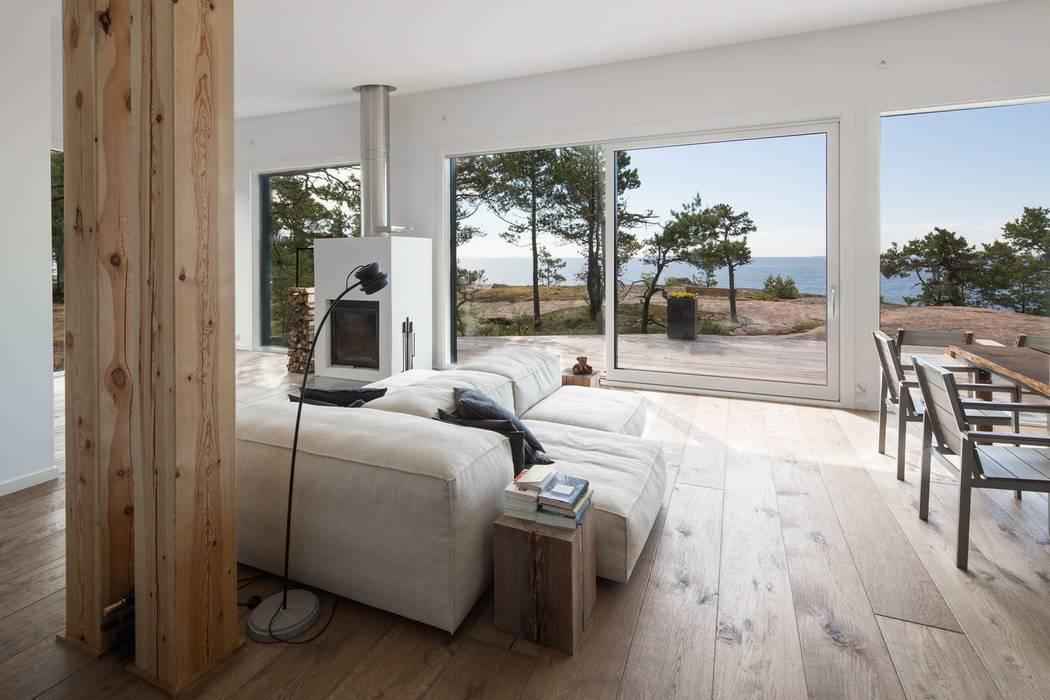 Sommer Haus an der Ostsee:  Wohnzimmer von Ecologic City Garden - Paul Marie Creation,Modern