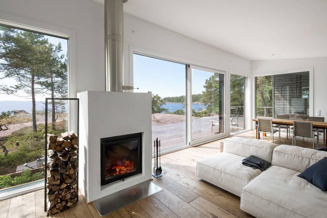 Sommer Haus an der Ostsee Moderne Wohnzimmer von Ecologic City Garden - Paul Marie Creation Modern