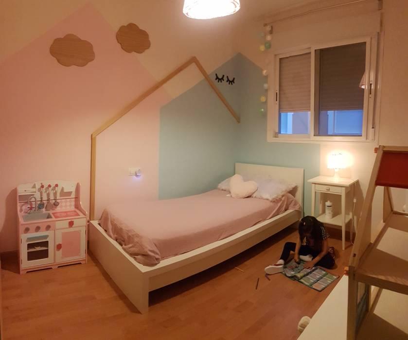 La habitación y su pequeña habitante: Habitaciones de niñas de estilo  de Patricia Fernández, Escandinavo