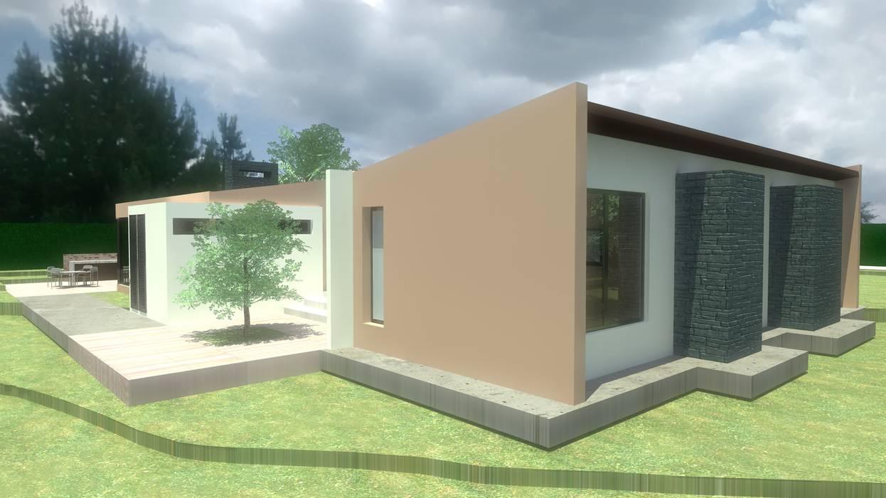 ZONA PRIVADA: Casas campestres de estilo  por noc-noc, Moderno