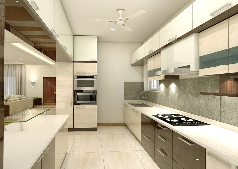 project miryalaguda:  Kitchen units by shree lalitha consultants,Asian Plywood