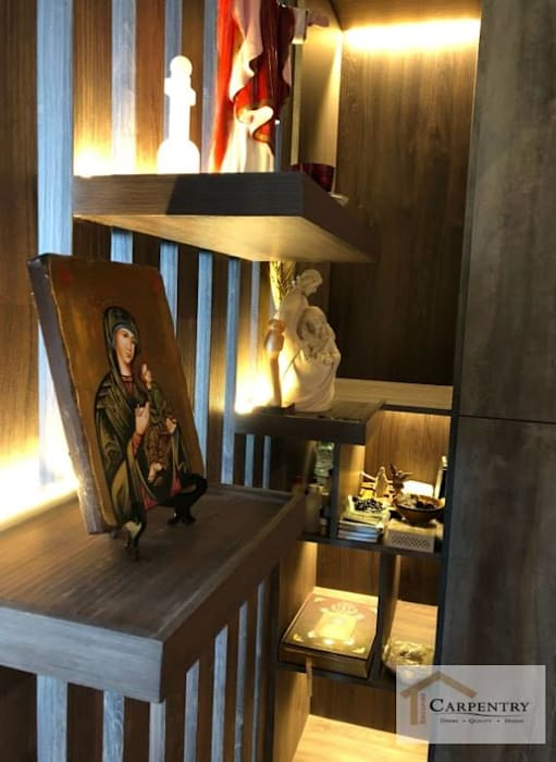 Thomson 808 - Alter shelves Modern Walls and Floors by Singapore Carpentry Interior Design Pte Ltd Modern