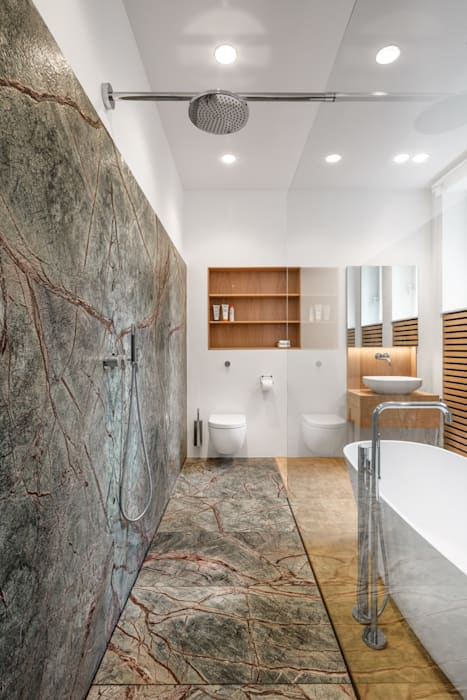 Bathroom by Corneille Uedingslohmann Architekten, Modern Stone