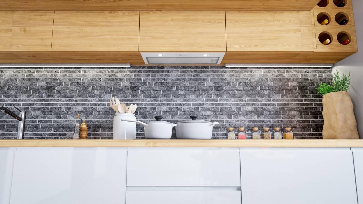 Jasne wnętrze w stylu loftowym: styl , w kategorii Kuchnia zaprojektowany przez GLOBALO MAX