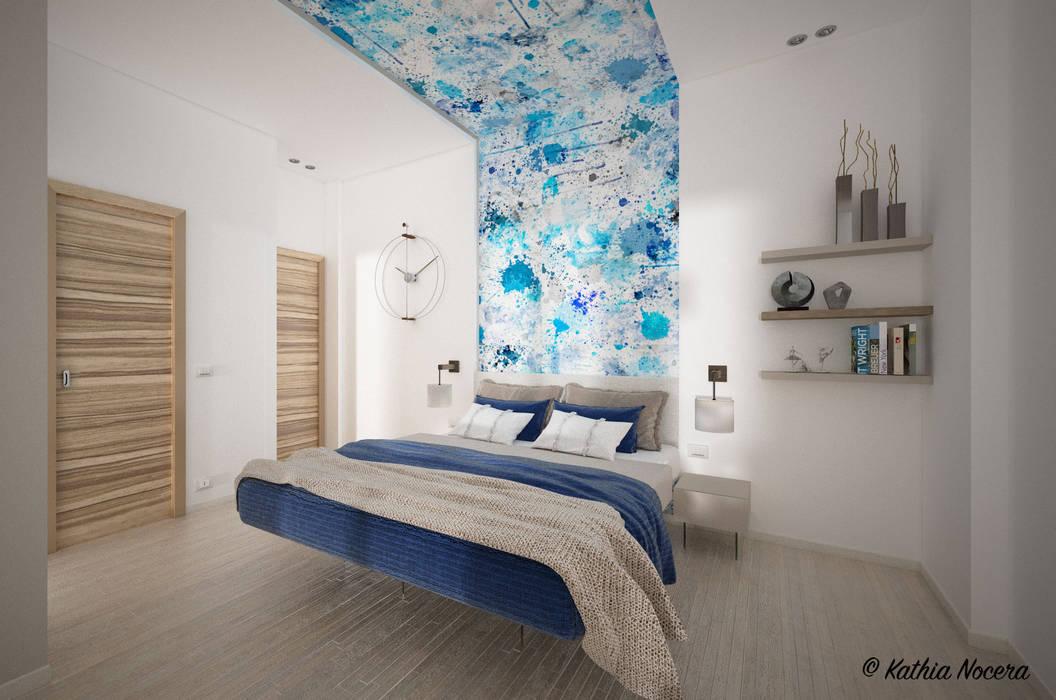 Casa di Marco: Camera da letto in stile  di Nocera Kathia rendering progettazione e design