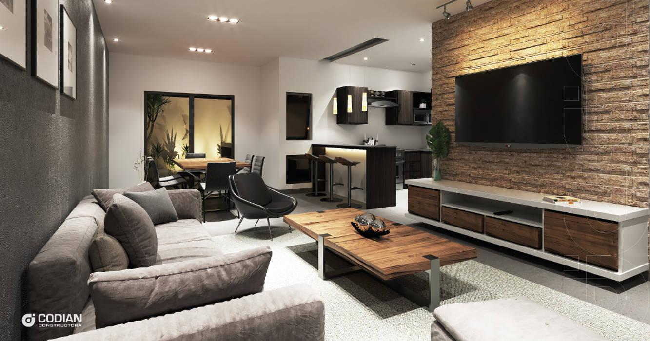 Salon minimaliste par CODIAN CONSTRUCTORA Minimaliste