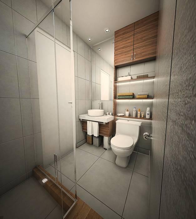 Baño y lavado: Baños de estilo  por GA Experimental, Moderno