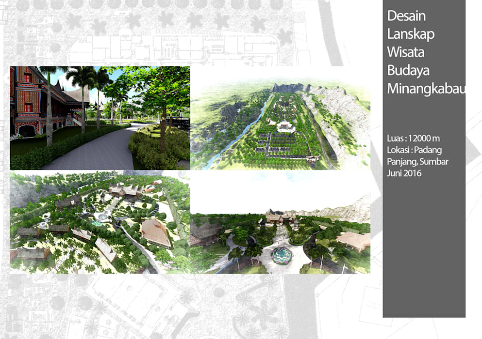 Kawasan Wisata Adat Minangkabau: Ruang Komersial oleh Bengkel Tanaman,