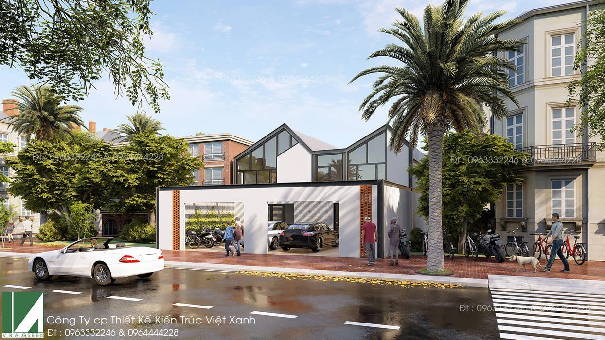 văn phòng 2 tầng kết cấu thép bởi Kiến trúc Việt Xanh