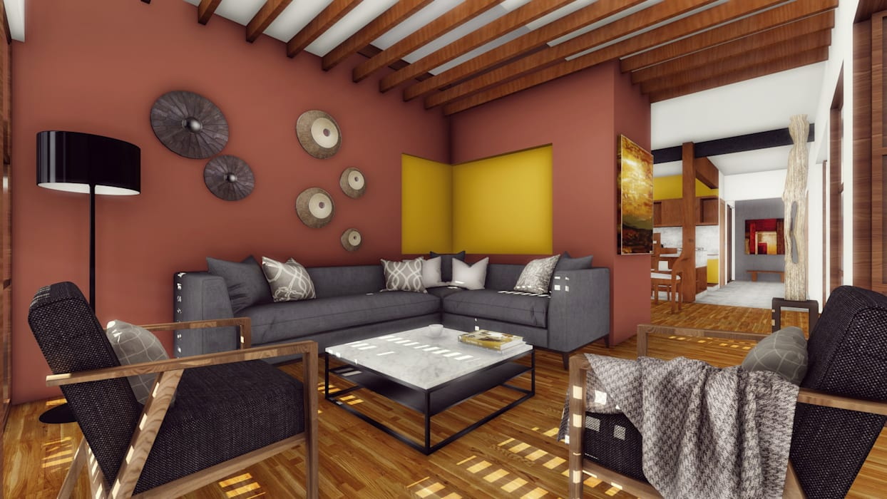 Phòng khách theo Taller de Materia Arquitectónica ,