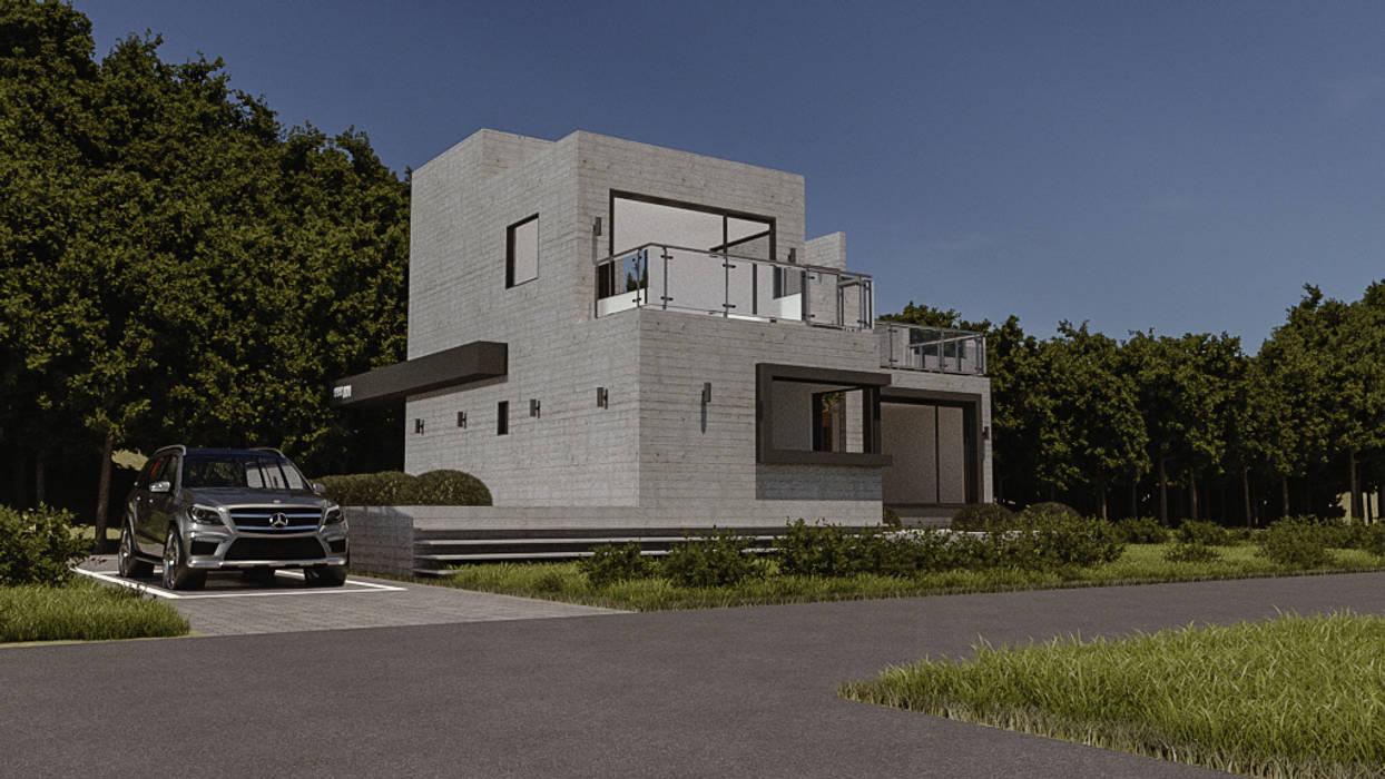 주택-외부 및 파사드: 디자인 이업의  전원 주택
