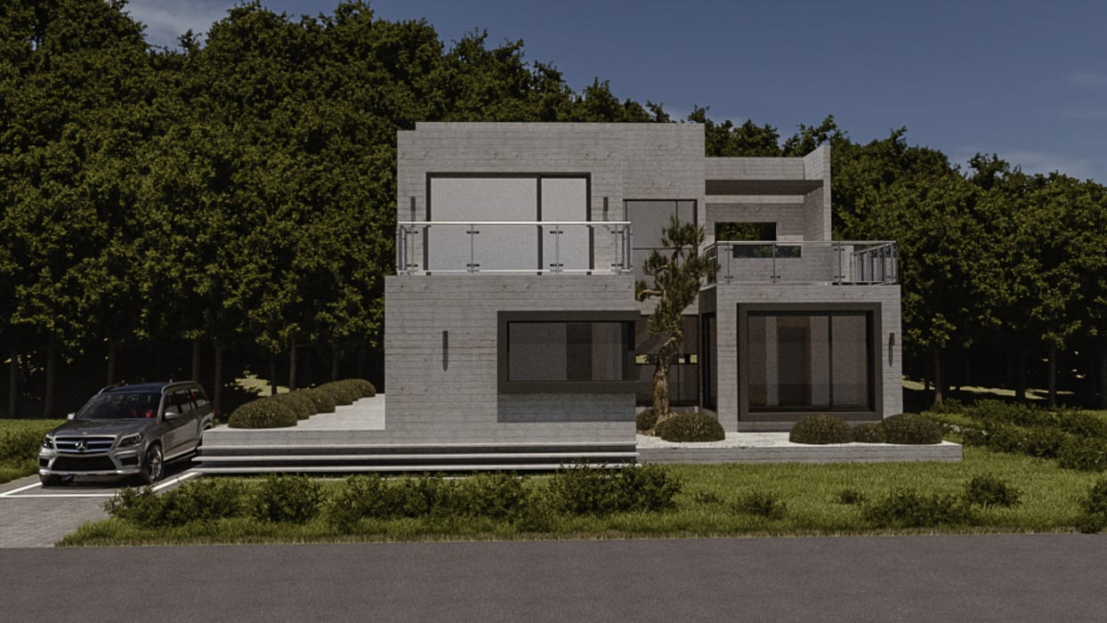 주택-외부 및 파사드 by 디자인 이업 모던 철근 콘크리트