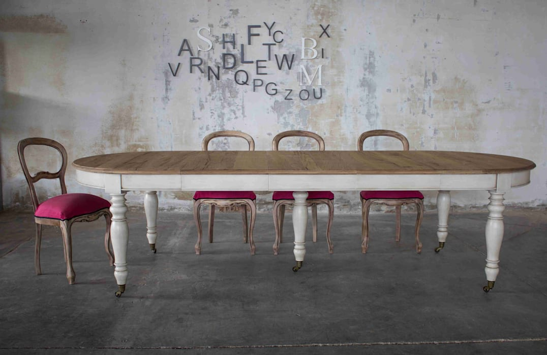 Tavolo Da Pranzo Shabby Chic : Tavolo inglese shabby chic: sala da pranzo in stile di baldo tavoli