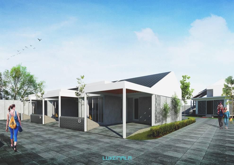 Eksterior Tipe 36/60:  Rumah by Lukemala Creative Studio
