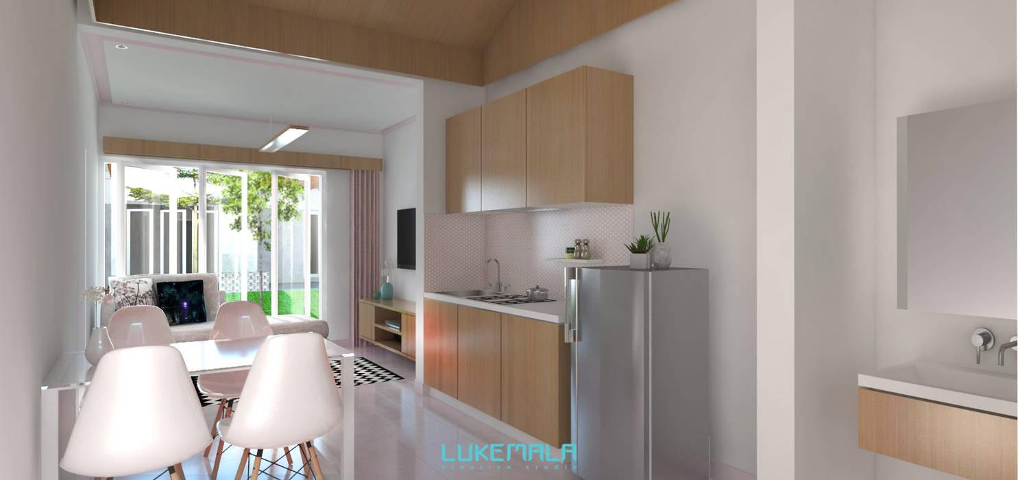 Interior Tipe 36/60:  Dapur by Lukemala Creative Studio