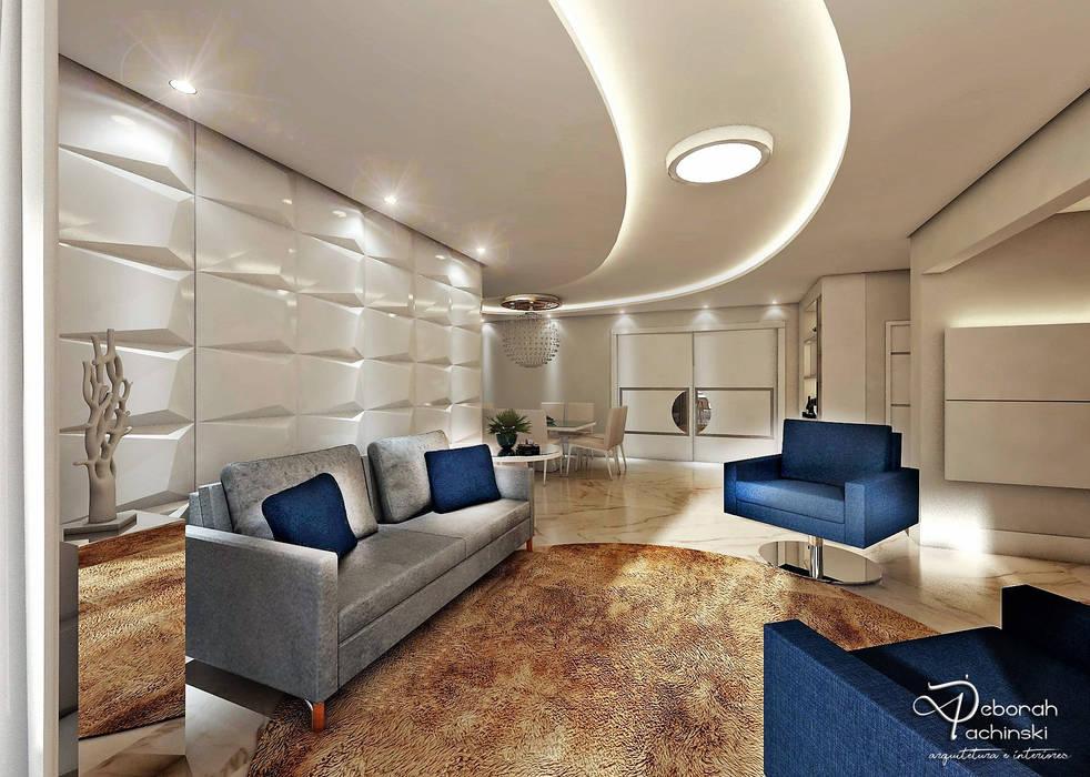 SALA DE ESTAR por Deborah Iachinski Arquitetura & Interiores Moderno
