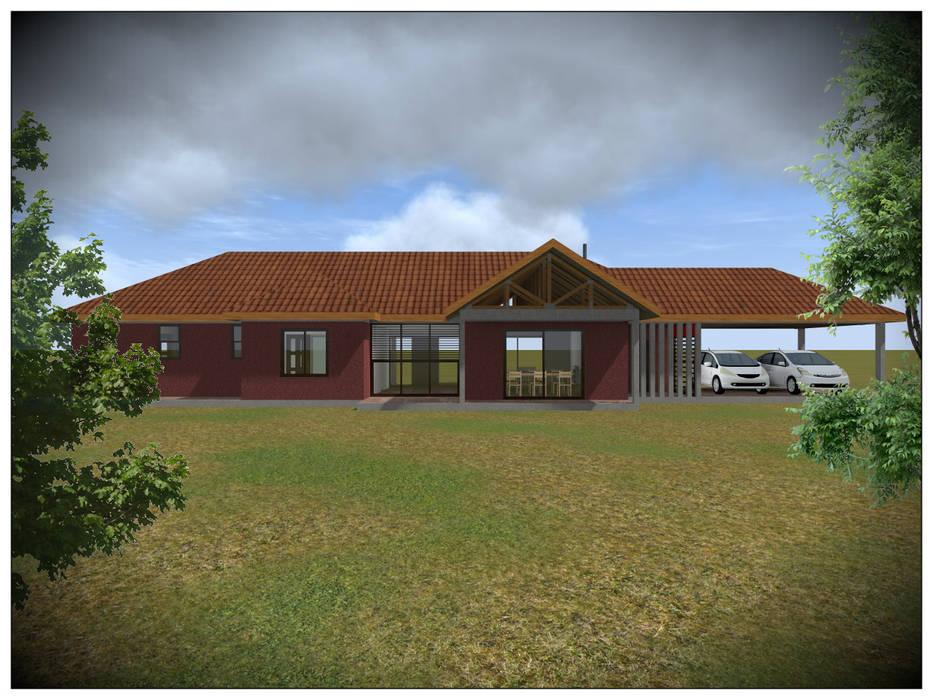 Vivienda Unifamiliar Rural Casas de estilo rural de Vicente Espinoza M. - Arquitecto Rural