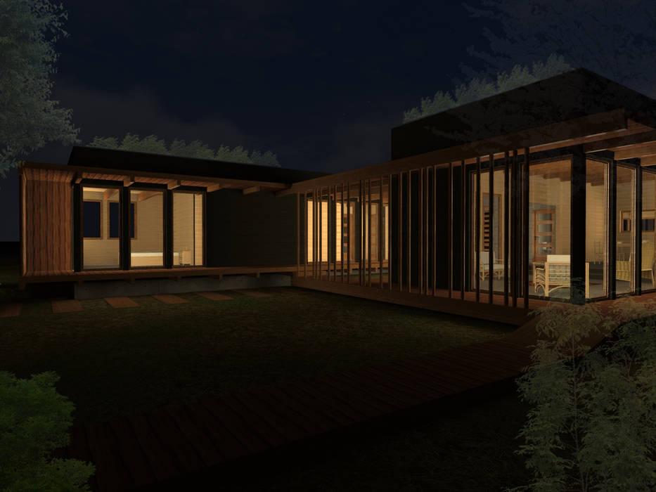 CASA JARDÍN -BUIN de Vicente Espinoza M. - Arquitecto Rústico Madera Acabado en madera