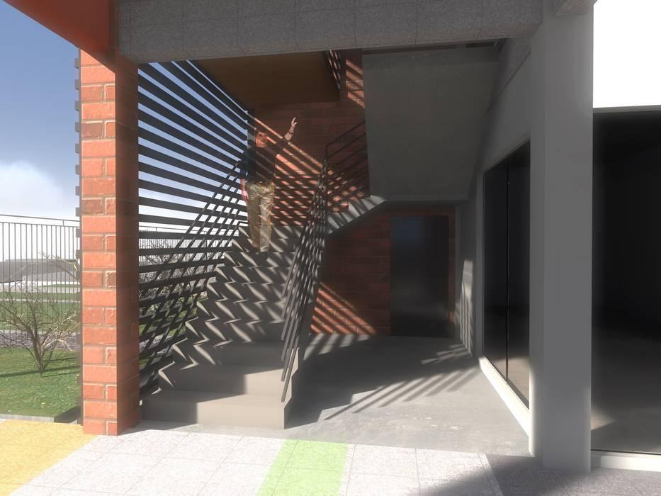 STRIPCENTER MELIPILLA ORIENTE: Escaleras de estilo  por Vicente Espinoza M. - Arquitecto