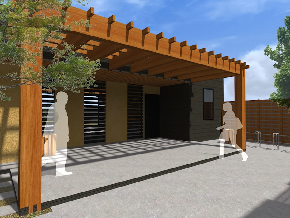 REMODELACION VIVIENDA URBANA de Vicente Espinoza M. - Arquitecto Rústico Madera Acabado en madera
