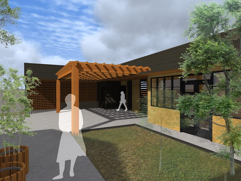 REMODELACION VIVIENDA URBANA Casas de estilo rústico de Vicente Espinoza M. - Arquitecto Rústico Madera Acabado en madera