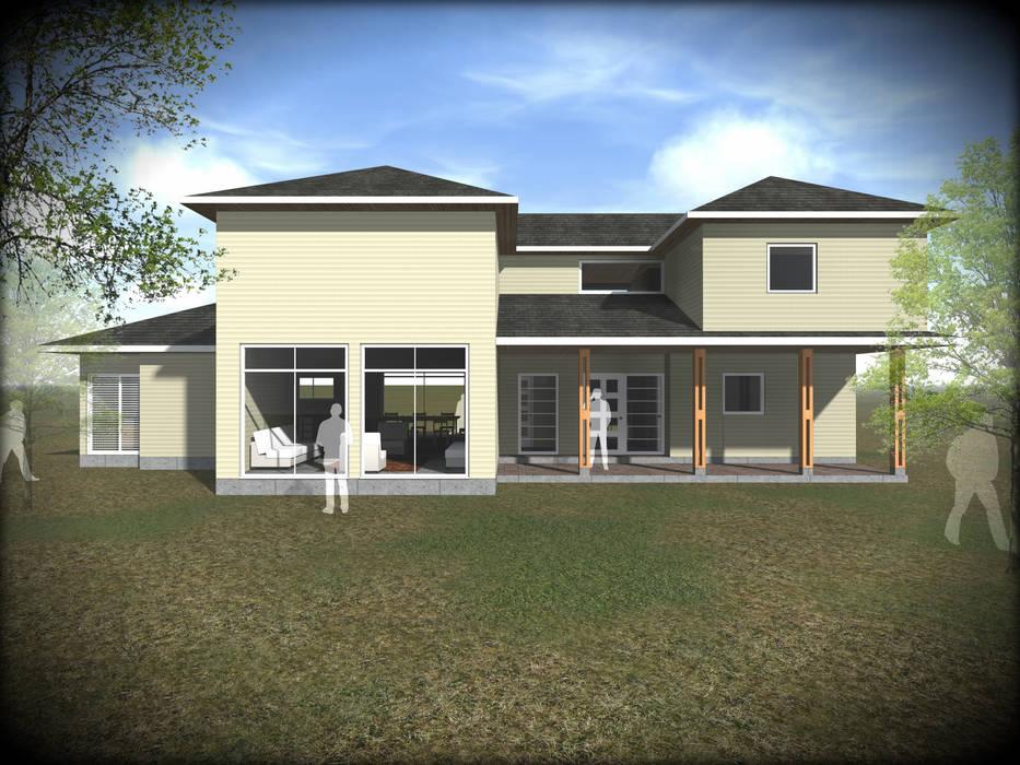 VIVIENDA PARCELA SANTO DOMINGO: Casas unifamiliares de estilo  por Vicente Espinoza M. - Arquitecto