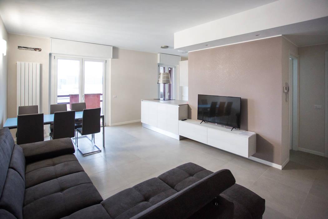 Soggiorno Moderno A Milano.Ristrutturazione Appartamento Milano 100mq Soggiorno Moderno Di