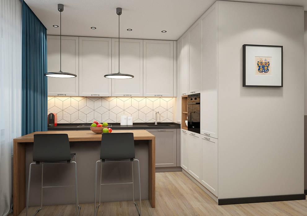 Квартира ЖК Арбатский 87 м2: Кухни в . Автор – Дизайн Студия 33