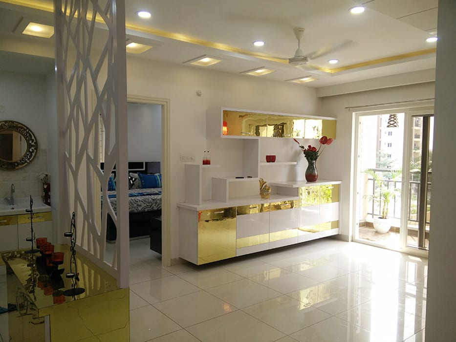 Modern Corridor, Hallway and Staircase by Enrich Interiors & Decors Modern