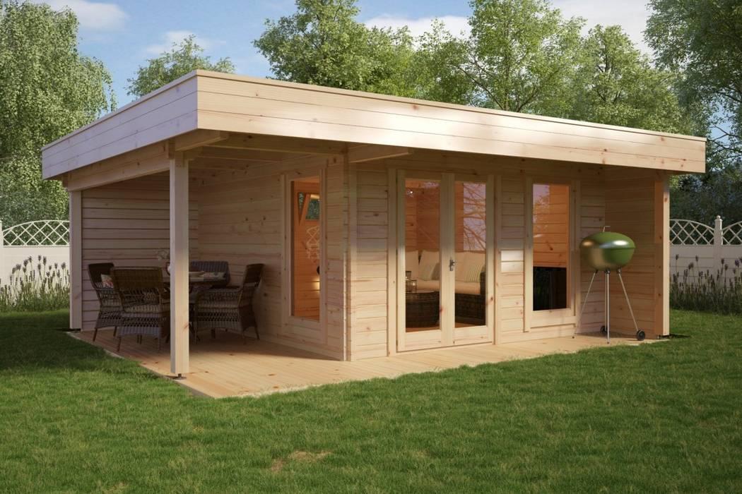 Modernes gartenhaus mit terrasse hansa lounge xl von ...
