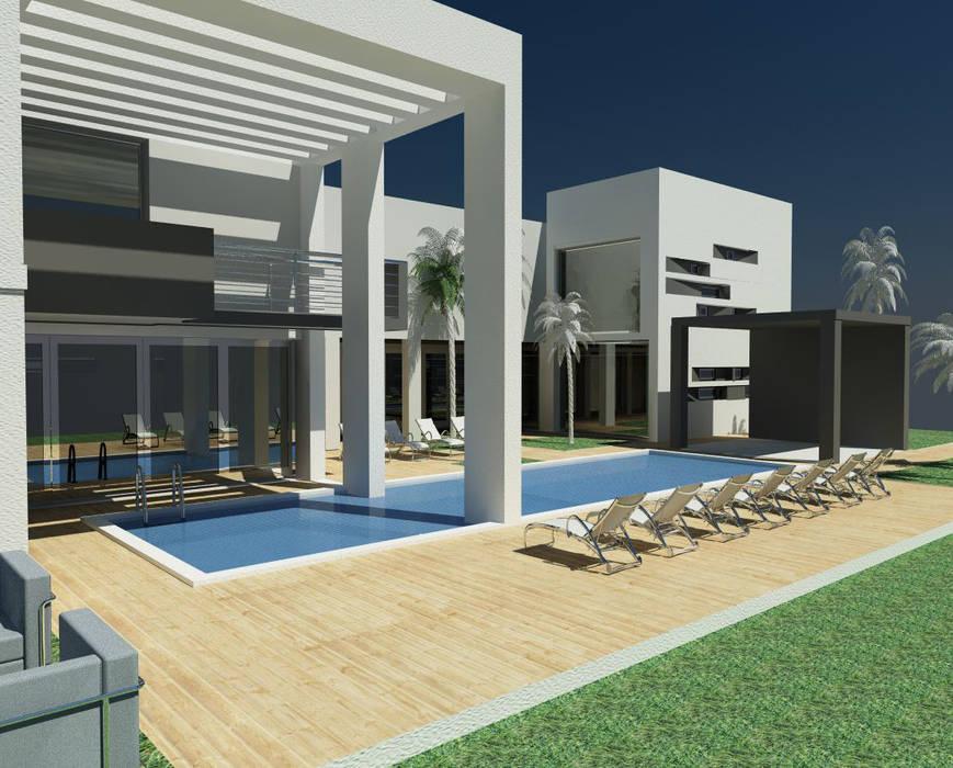 Het zwembad:  Gezondheidscentra door MEF Architect