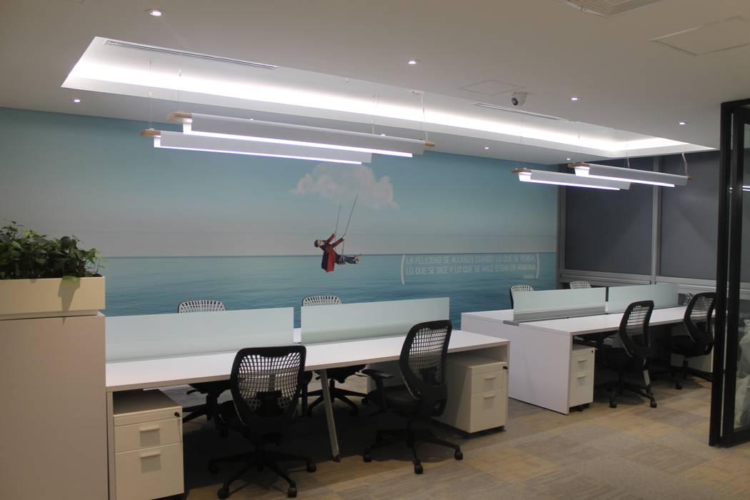 PUESTOS DE TRABAJO + BRANDING: Edificios de oficinas de estilo  por IngeniARQ Arquitectura + Ingeniería