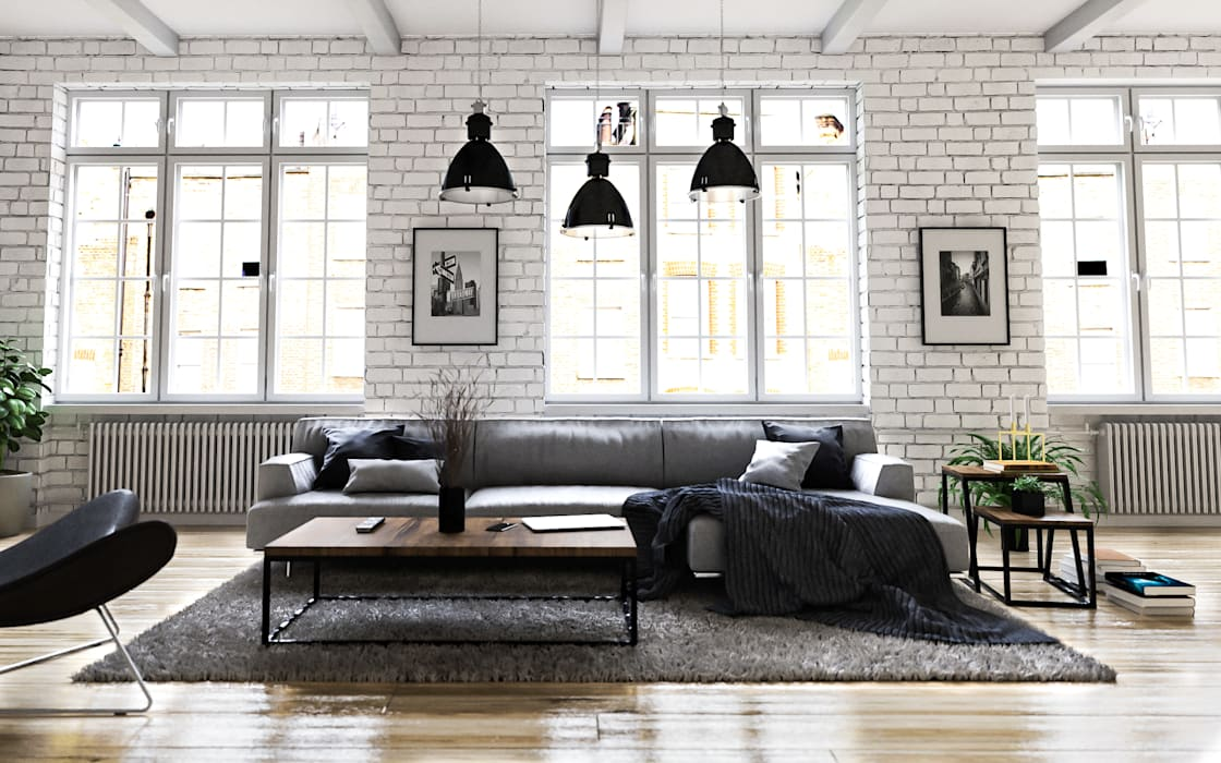 Steven romsits - 10d visualisierung industrial style living room