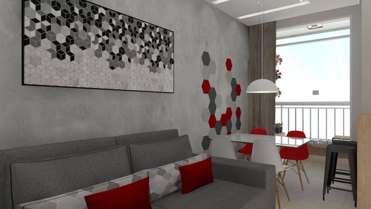 Bruna Ferraresi Salon moderne Béton Gris
