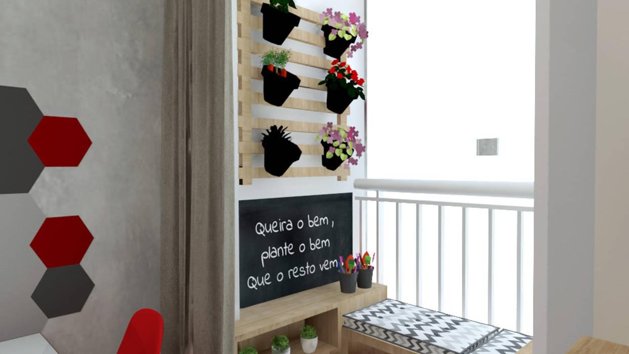 Varanda por Bruna Ferraresi Moderno de madeira e plástico