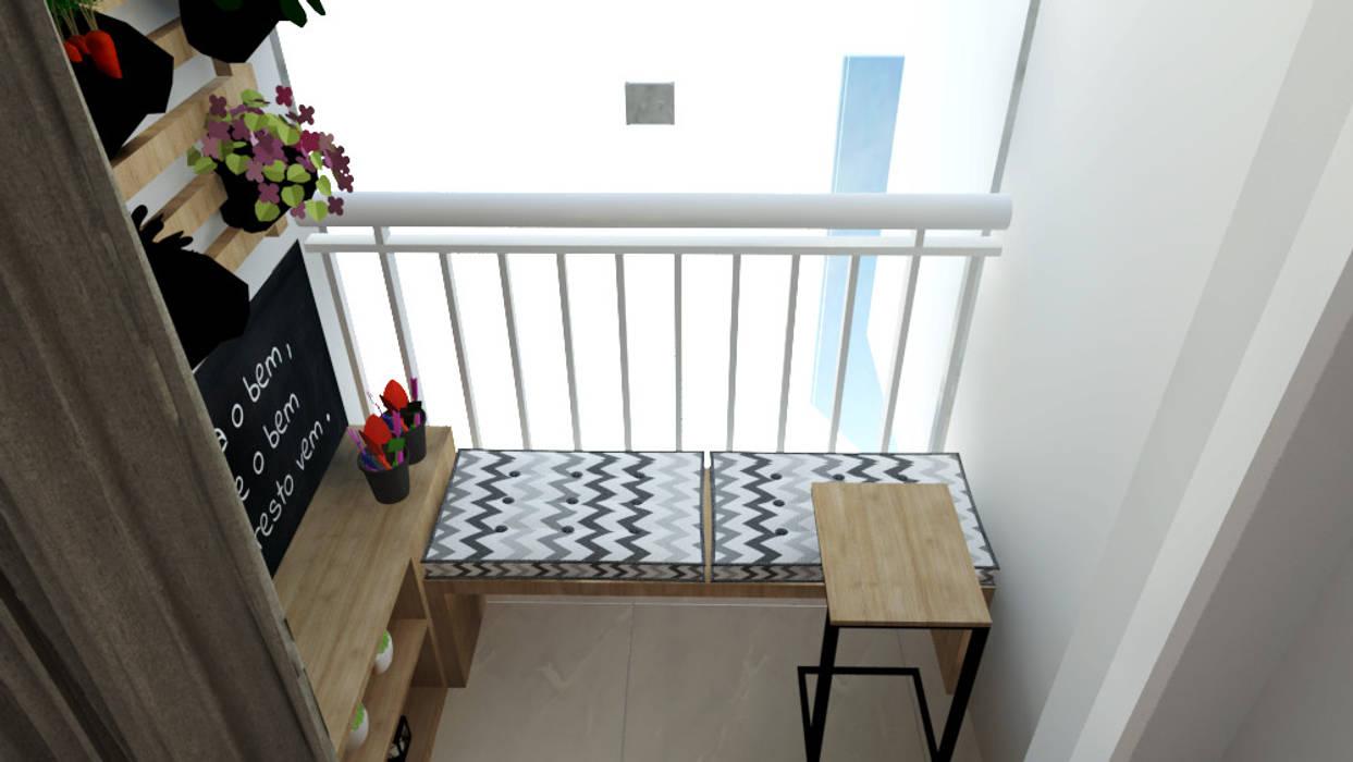 Varanda apartamento por Bruna Ferraresi Moderno MDF