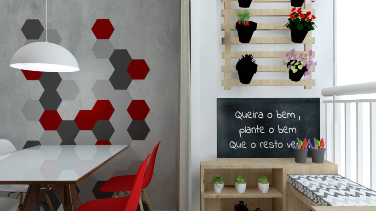 Varanda Salas de jantar modernas por Bruna Ferraresi Moderno MDF