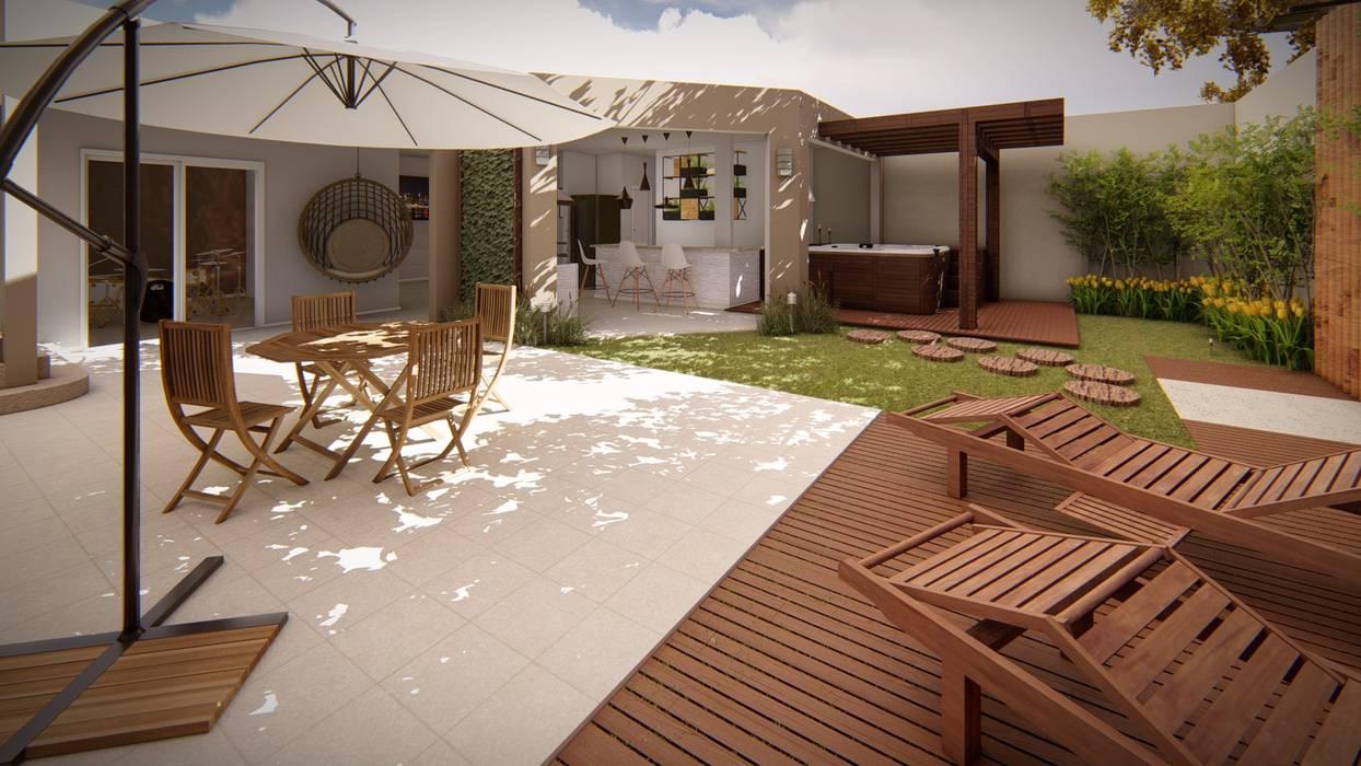 Área de lazer por Studio MP Interiores Moderno Madeira Efeito de madeira