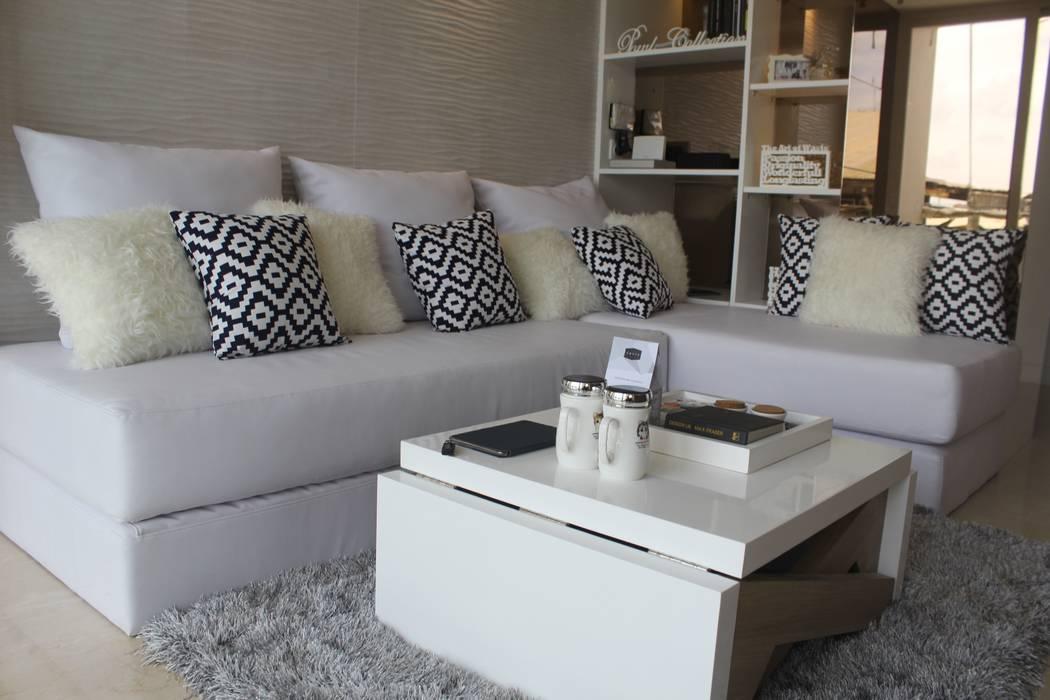 Ruang Tamu:  Ruang Keluarga by POWL Studio