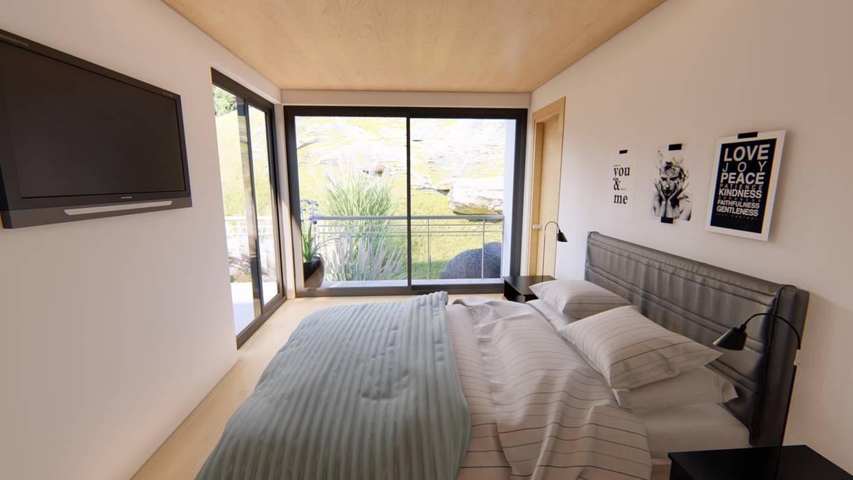 Habitación principal: Dormitorios de estilo  por Ekeko arquitectura  - Coquimbo,