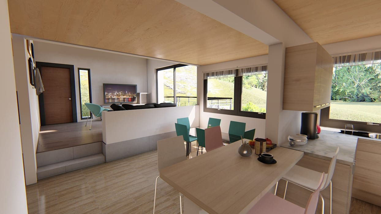Ruang Makan oleh Ekeko arquitectura  - Coquimbo, Minimalis