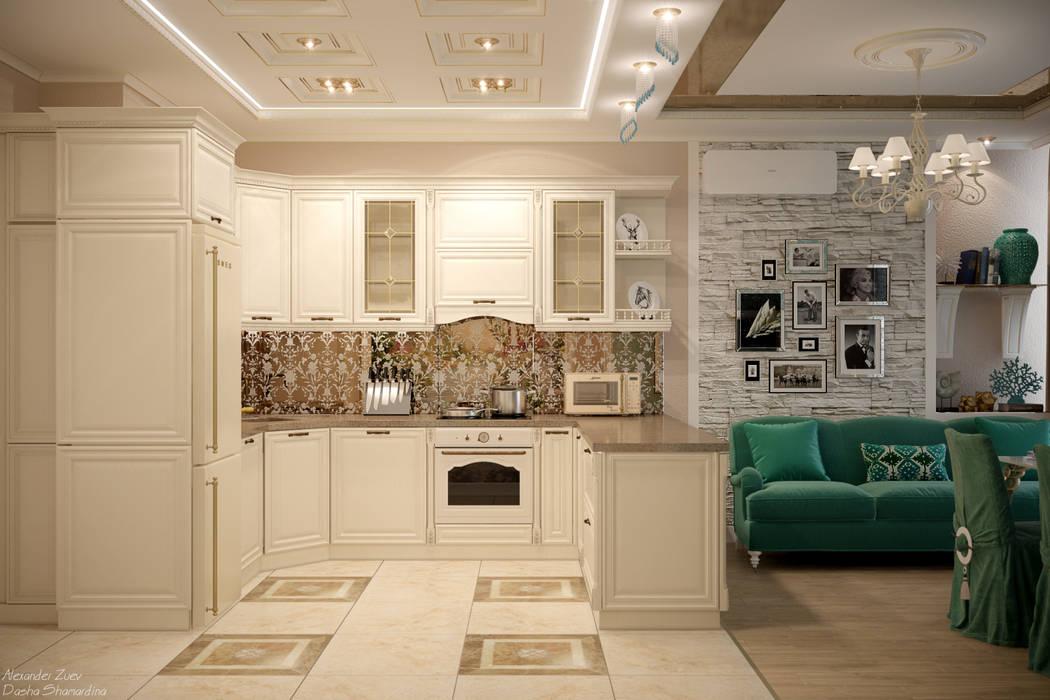 Дизайн кухни в стиле ар-деко в квартире по ул. Дальняя, г.Краснодар: Кухни в . Автор – Студия интерьерного дизайна happy.design
