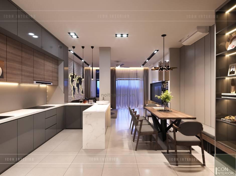 Thiết kế nội thất nhà phố, biệt thự phong cách hiện đại:  Nhà bếp by ICON INTERIOR, Hiện đại