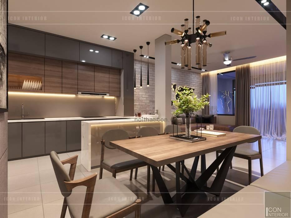 Thiết kế nội thất nhà phố, biệt thự phong cách hiện đại:  Phòng ăn by ICON INTERIOR,