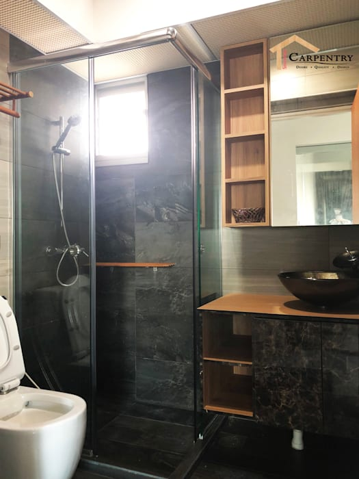 Contemporary style at Tenteram Peak:  Bathroom by Singapore Carpentry Interior Design Pte Ltd,Modern
