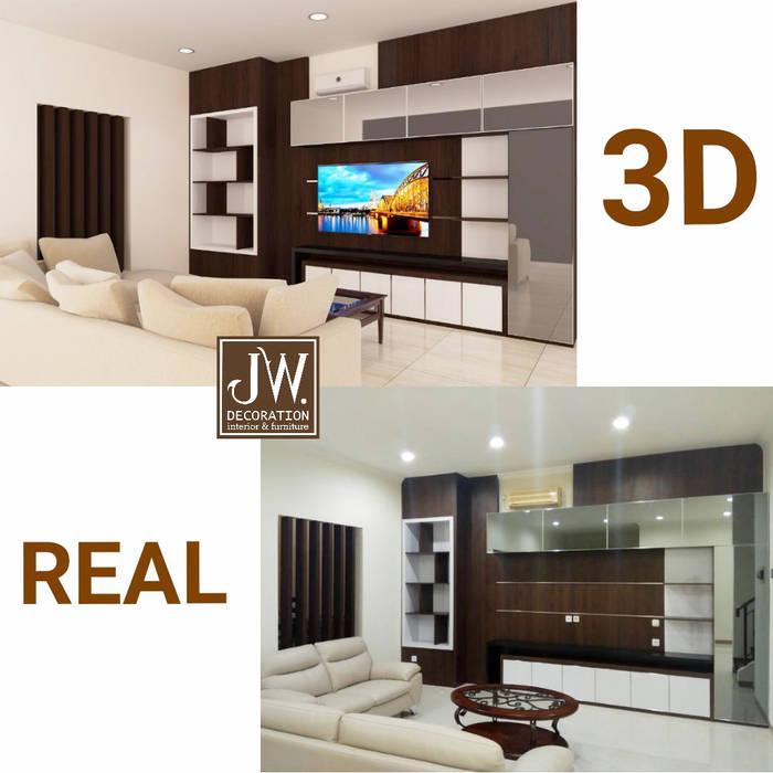 Pak Rezha, Cluster Crystal - Summarecon Gading Serpong: Ruang Keluarga oleh JW Decoration,