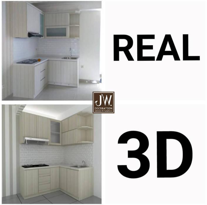 Ibu Errin, Residence One BSD JW Decoration Dapur built in Kayu Lapis Wood effect