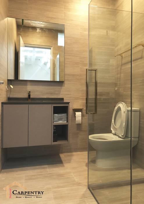 Mid Century Modern Style at Jalan Usaha Modern bathroom by Singapore Carpentry Interior Design Pte Ltd Modern