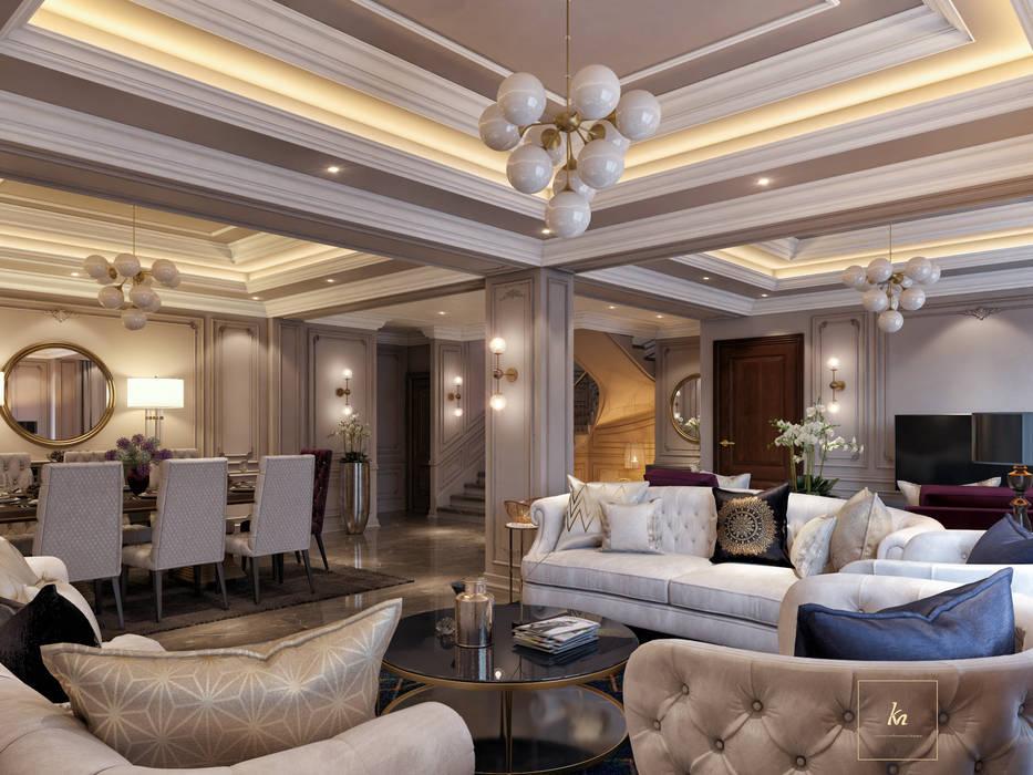 Kareem Mohammed Designs WohnzimmerSofas und Sessel Beton Beige