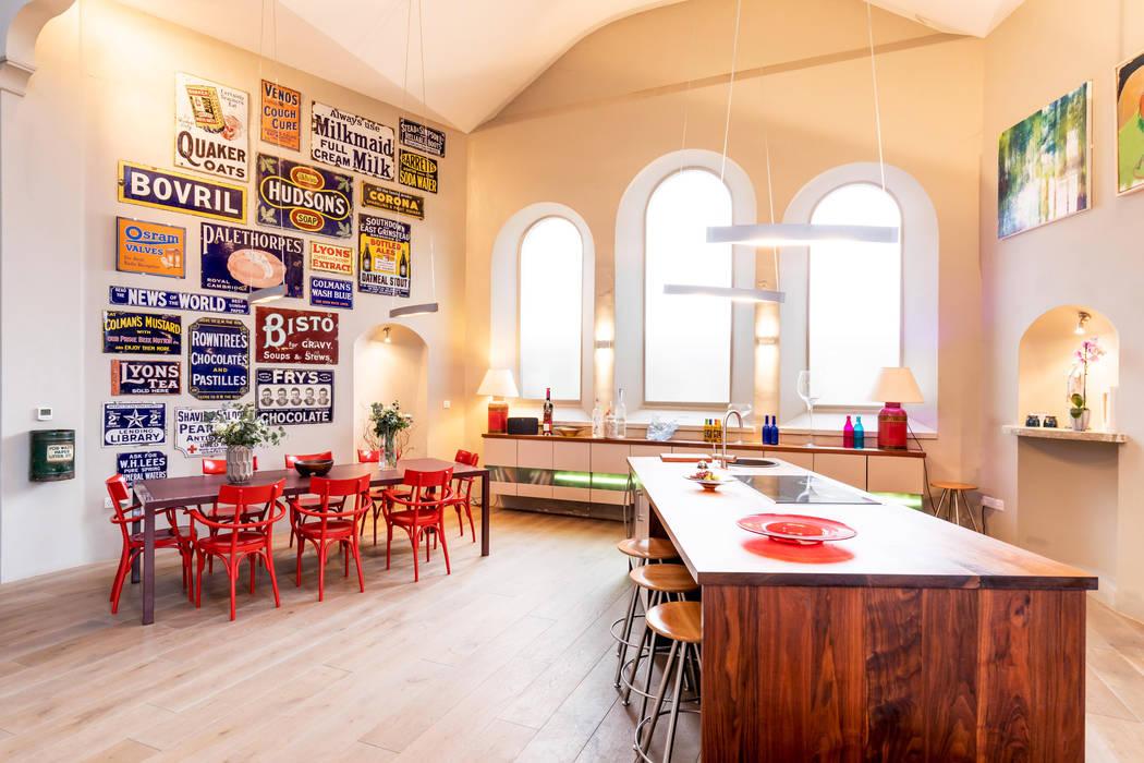 Kitchen & Dining Area Dapur Gaya Eklektik Oleh dwell design Eklektik